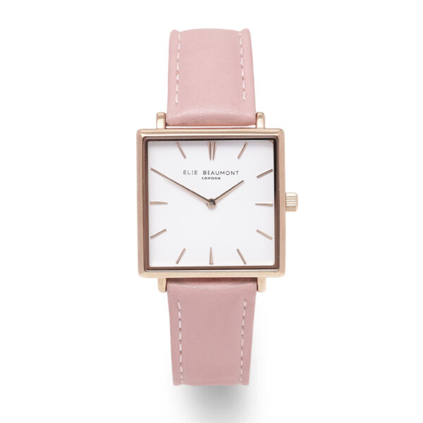 Elie Beaumont Bayswater Watch in Pink and Rose Gold