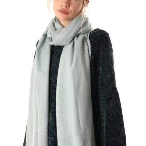 Dusty Blue and Silver Blanket Scarf