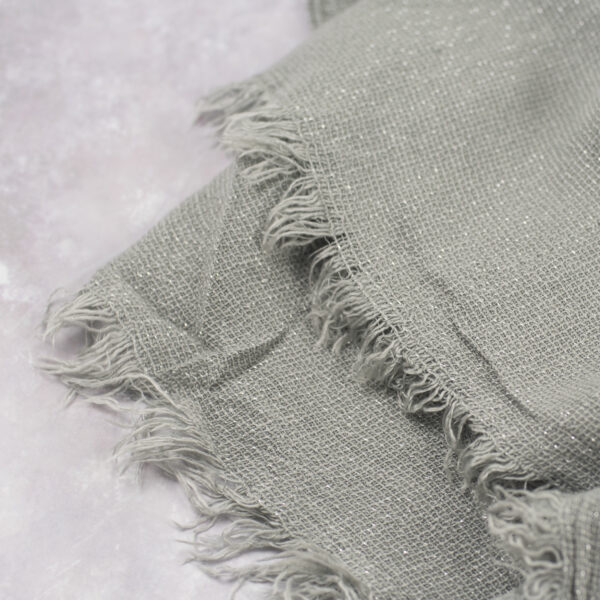 Grey and Silver Blanket Scarf