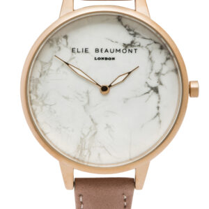 Elie Beaumont Richmond Marble Watch in Blush Pink and Rose Gold