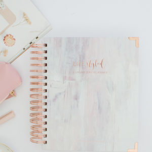Life Styled Planner Luxury Day Planner 2020 Painted Rose