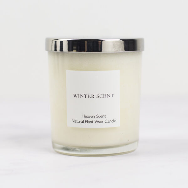 Heaven Scent Winter Scent Candle with Silver Lid
