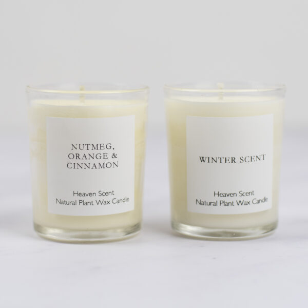 Heaven Scent Votive Candles Winter Scent and Nutmeg Orange and Cinnamon