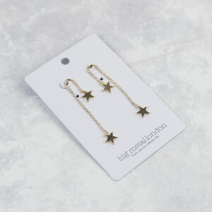 Big Metal London Falling Star Earrings in Gold