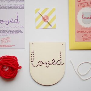 Cotton Clara Loved Embroidery Banner Kit